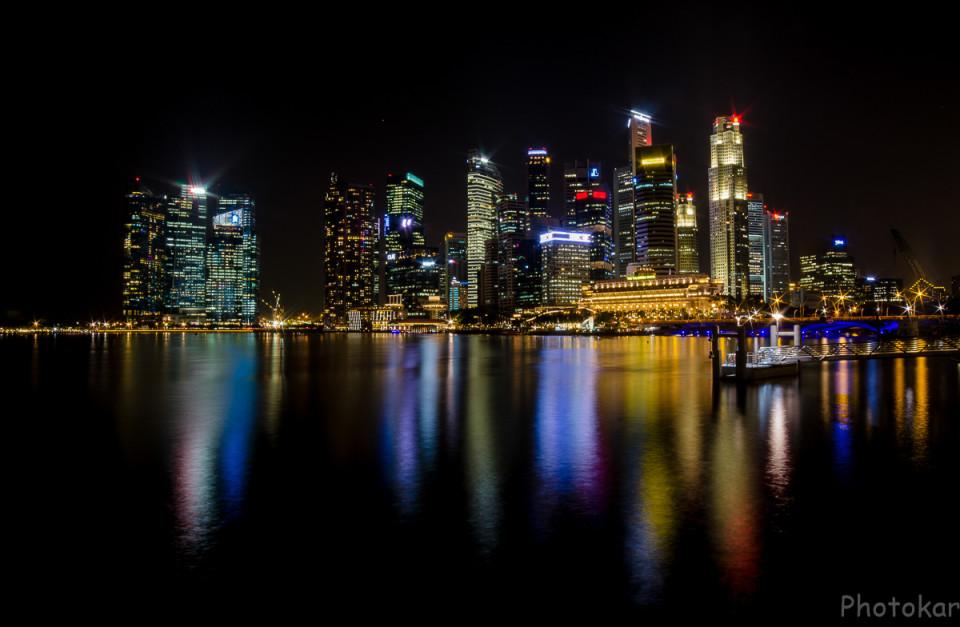 Вот он…Ночной Сингапур…