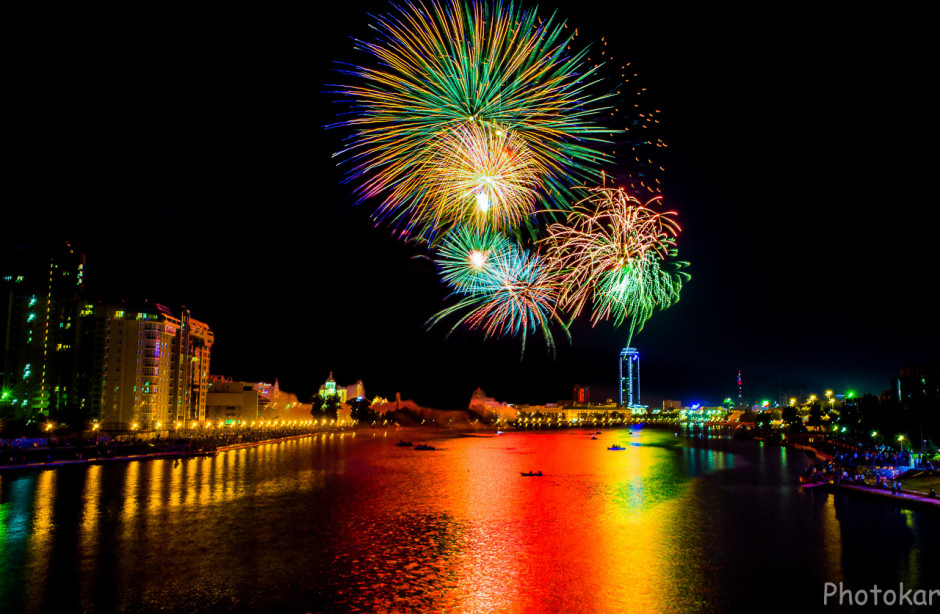 День города. Екатеринбург 2014. Фото с Макаровского моста.
