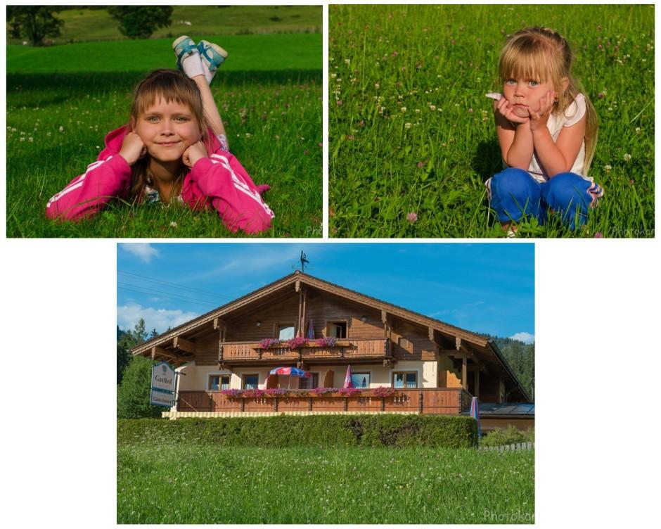 Мои девочки и наш временный уютный дом.